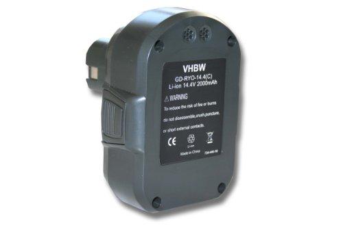 vhbw Li-Ion Akku 2000mAh (14.4V) für Werkzeuge Ryobi LLCD14022, LLCD 14022 wie Ryobi BPL1414.