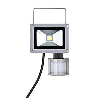 32nd Waterproof IP65 10W Portable Work Lamp LED Light Rechargeable Floodlight with built in PIR motion detector