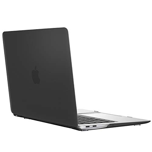 MoKo MacBook Air 13 Inch Case 2018 Model A1932, Slim PC Hard Shell Protective Cover Snap On Matte Frosted Case Compatible with Apple New MacBook Air 13 2018 with Retina Display - Translucent Black