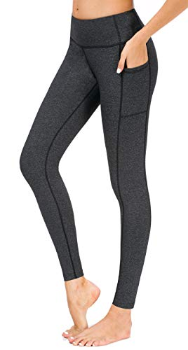 Sugar Pocket Damen Sport-Leggings, für Yoga, Fitness, Joggen, Walking Gr. M, Gery Color -