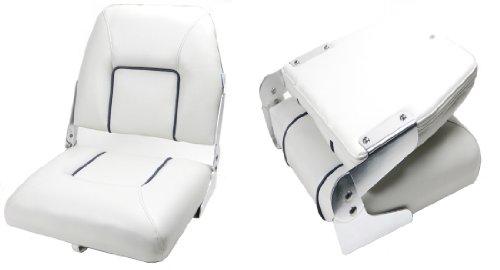 Bootssitz Steuerstuhl Klappsitz Weiß