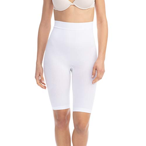 Farmacell 312 (Weiss, XXL) Figurformende massierende Miederhose anti Cellulite
