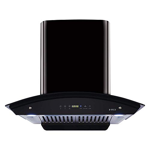 Elica 60 cm 1200 m3/hr Auto Clean Chimney with Free Installation Kit (WD HAC TOUCH BF 60 BK, 2 Baffle...