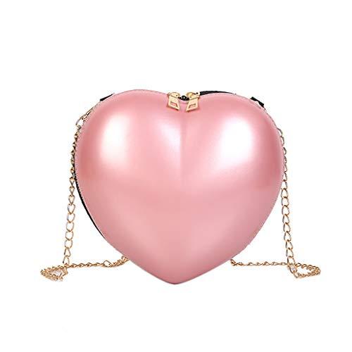 Zegeey sac a main femme Sac à bandoulière Sac à bandoulière en forme de coeur pour femme Sac à bandoulière la mode simple mignonnes filles sirène paillettes porte-monnaie portefeuille Mini Messenger