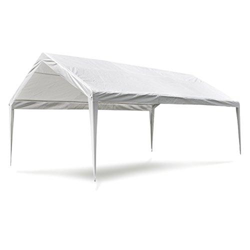 Nexos Pavillondach/Ersatzdach/Wechseldach/Dachbezug für Partyzelt Festzelt Zelt 4x6m - Dachplane 180g/m² PE wasserdicht - Farbe: weiß