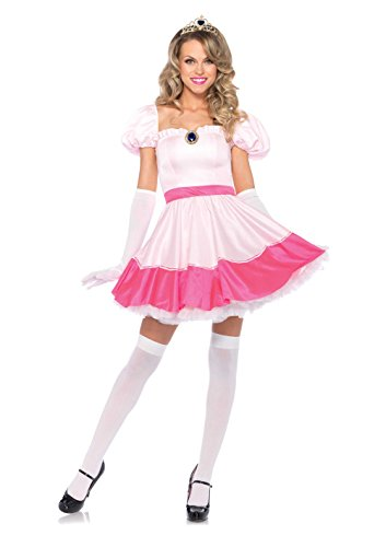 Leg Avenue Prinzessinnenkleid mit Krone und Handschuhe, 1 St�ck, rosa, Gr�sse S/P