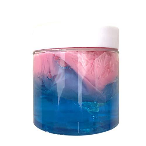 Covermason Squishy Toys 100 ml Fluffy Slime Slow Rising Spielzeug Flauschige Schleim Farbmischung Wolkenschleim Matschig Putty Duftend Entspannung Kinder Spielzeug (Blau)