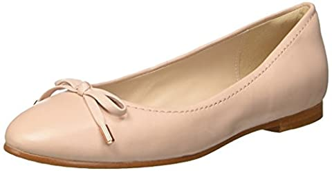 Clarks Damen Grace Lily Geschlossene Ballerinas, Beige (Nude Pink Lea), 40 EU