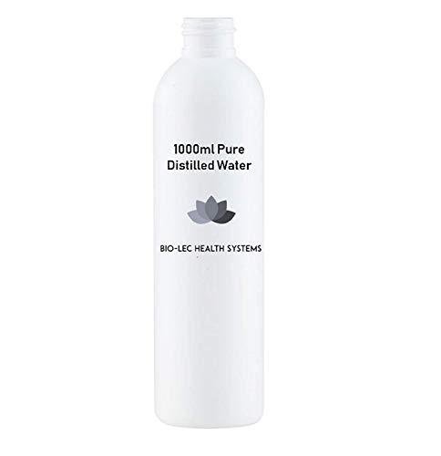 (1000ml (1l)) Acqua distillata a vapore lento al 100% di varie dimensioni Multiuso [Grado alimentare/Grado medico/Senza BPA] di...