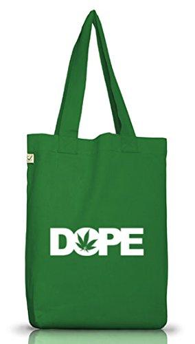 Shirtstreet24, Dope Cannabis, Hanf Blatt, Jutebeutel Stoff Tasche Earth Positive (ONE SIZE) Moss Green