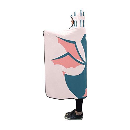 JOCHUAN Mit Kapuze Decke Super Retro niedlichen Drachen Design Tshirt Decke 60x50 Zoll Comfotable Mit Kapuze werfen Wrap -
