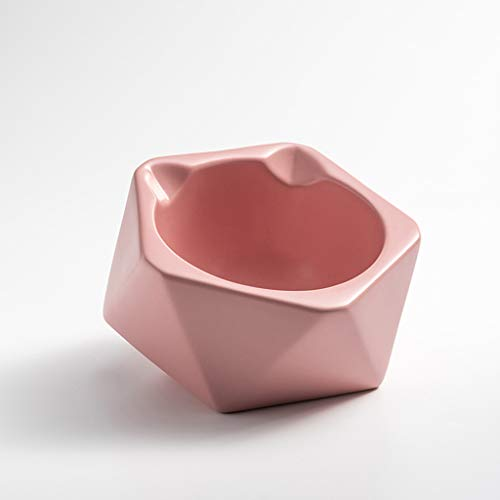 SZ-CWYP Pet Bowl Cat Bowl Keramik Katzenfutter Bowl Mode Katze Ohr Form flaches Gesicht Pet Cat Bowl,H