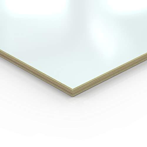 18mm Multiplex Zuschnitt weiß melaminbeschichtet Länge bis 200cm Multiplexplatten Zuschnitte Auswahl: 40x30 cm