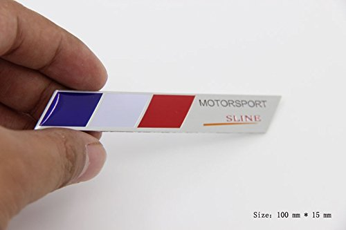D989 Französisch Flagge S Line Emblem Badge auto aufkleber 3D car Sticker emblema Abziehbild -