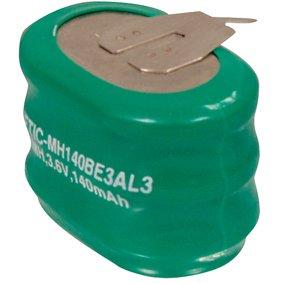 HQ NIMH-103 Hybrides nickel-métal (NiMH) 140mAh 3.6V batterie rechargeable - Batteries rechargeables (140 mAh, Hybrides nickel-métal (NiMH), 3,6 V, Vert)