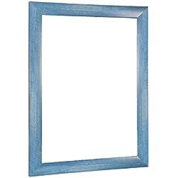 NiRa35-Top Cadre Photo 25x35 cm en Couleur Bleu Clair Flou avec Verre Acrylique antireflet