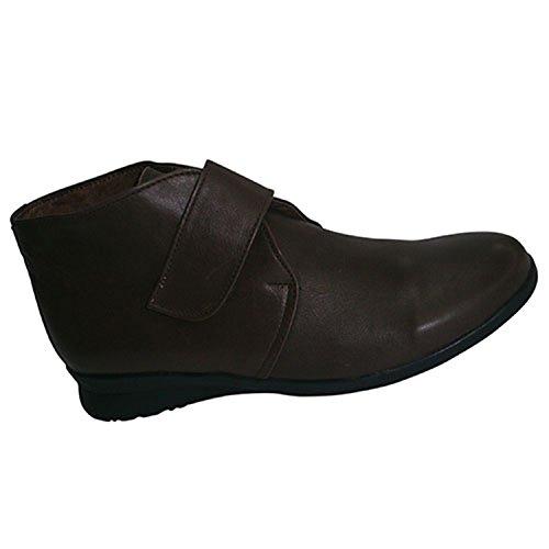 Stiefel mit Klettverschluss Gummiboden El Corzo Dunkelbraun Dunkelbraun