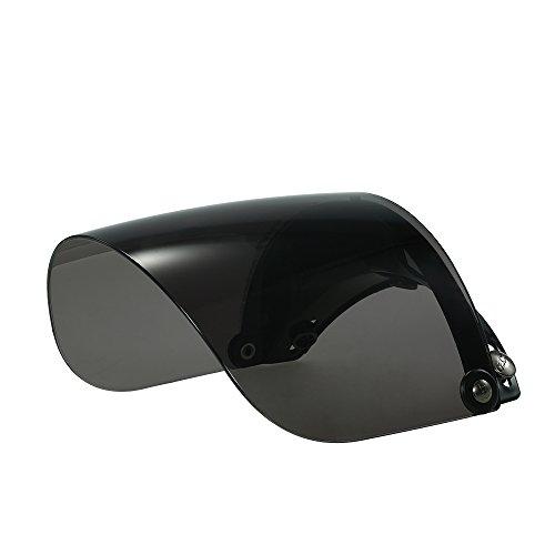 KKmoon Universale 3 Snap Flip Up Lente per Visiera for Retro Open Face Casco per Moto Aperto Viso Motociclo Casco Bolla Visiera Lente Motocicletta Bicchieri Adattarsi Nero