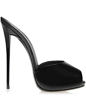 2017 estate sandali e ciabatte tacco alto sandali freddi pelle verniciata di nero solido di colore dolce nuovo...