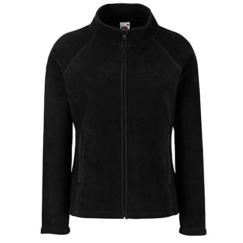 Fruit of the Loom - Lady -Fit Fleece Jacket M,Black