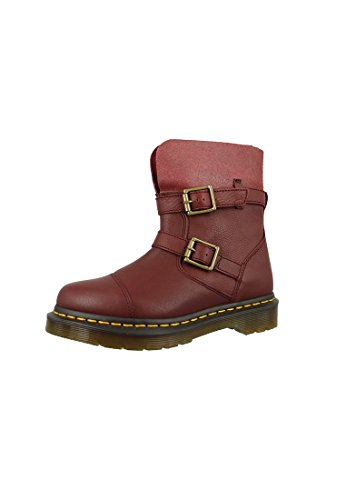 Dr. Martens KRISTY Cherry Red Virginia Red Slouch Rigger bateau 20876600 Cherry Red