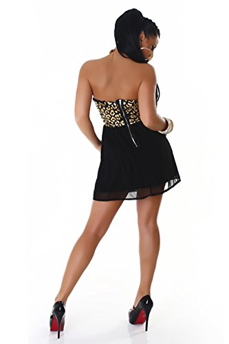 graffith robe bandeau Mini robe robe de cocktail paillettes dans le motif léopard, couleurs assorties Or