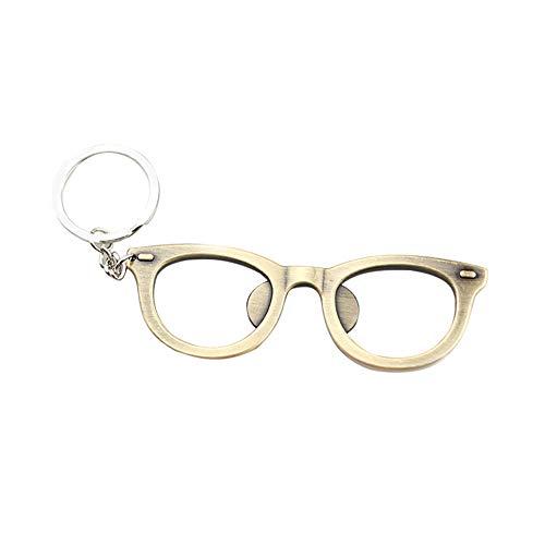Nikgic Brillengestell Öffner Multifunktion Schlüsselanhänger Schlüsselring Keychain Geschenke, Auto Schlüssel Tasche Telefon Anhänger Grüne Bronze