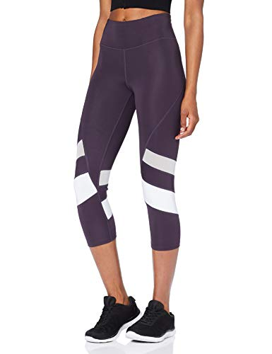 AURIQUE Capri Stripe Leggings Deporte