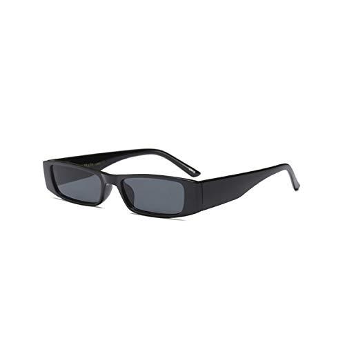 Vikimen Sportbrillen, Angeln Golfbrille,Vintage Small Square Sunglasses Women Brand Designer Retro Leopard Frame Rectangular Sun Glasses Women UV400 Shades Black