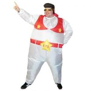 Inflatable Elvis Suit Fancy Dress Costume Fat Hen Stag Night