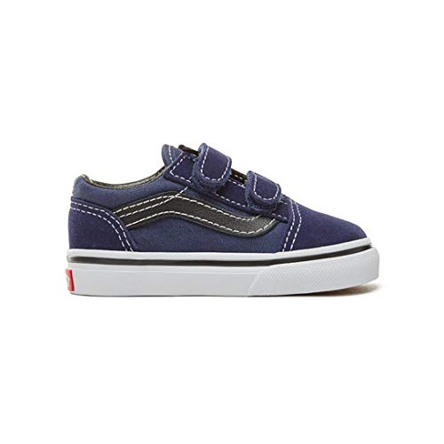 Vans TD Old Skool V -Fall 2018-(VN0A344KU3Y1) - Medieval Blue/Black - 6C