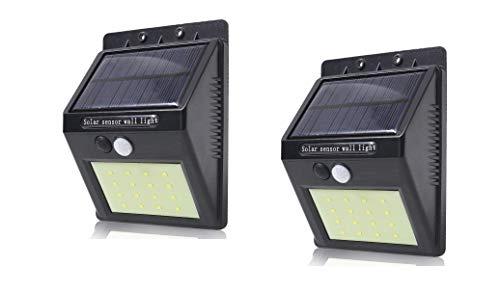 UnTech Solar Motion Sensor 20 LED Wall Night Light (Pack of 2)
