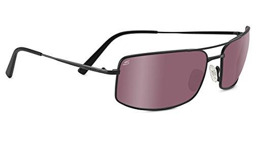Serengeti Eyewear Sonnenbrille Treviso, Satinack/Polarized Sedona Bi Mirror, 8440