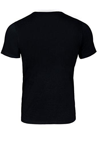 WOLDO Athletic T-Shirt Herren kurzarm Rundhals Black