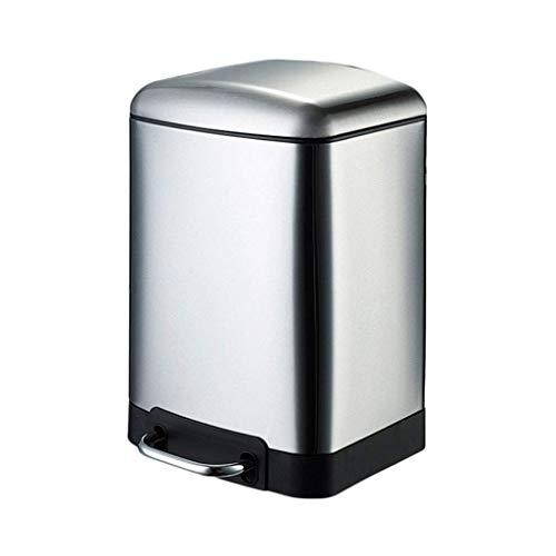 itt Mülleimer mit Geruchskontrollsystem, Haushalt Küche mit Deckel Pedal Typ Mülleimer Badezimmer Schlafzimmer Große Kapazität 12L (Size : 6L) ()