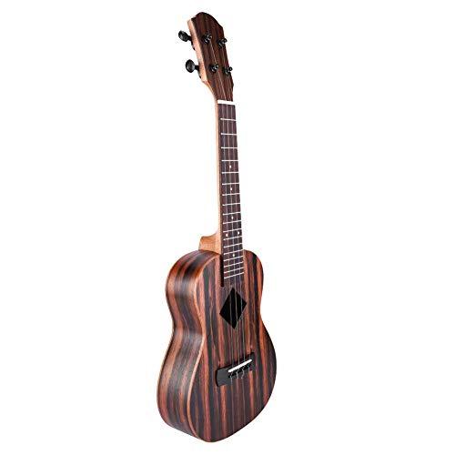RiToEasysports Ukulele, Yael/Yal Y-24 Einzel-Ukulele 23-Zoll-Ebenholz Palisander Ahornholz lackiert 4-saitige Hawaii-Gitarre Musikinstrument Leichte tragbare 23