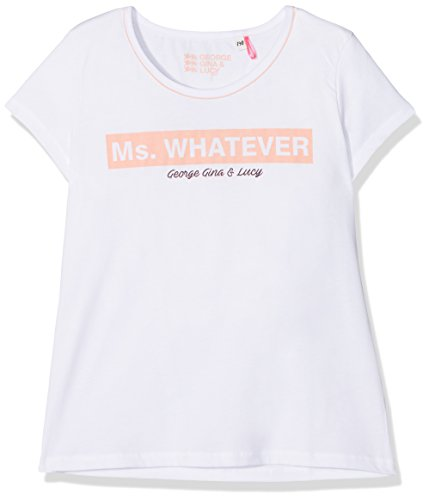GEORGE GINA & LUCY GIRLS Mädchen T-Shirt 50587, Weiß (White 10), 140