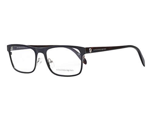 Alexander McQueen Brille (AM-0163-O 002) Metall - Acetate Kunststoff matt schwarz - dunkel havana - Alexander Mcqueen-brille