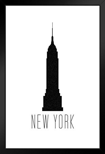 Städte New York City Empire State Building weiß gerahmtes Poster 35,6 x 50,8 cm