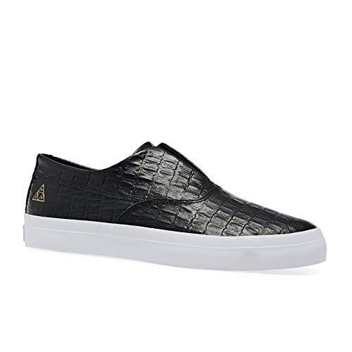 HUF Dylan Slip On Shoes 44.5 EU Black Signature-slip-ons