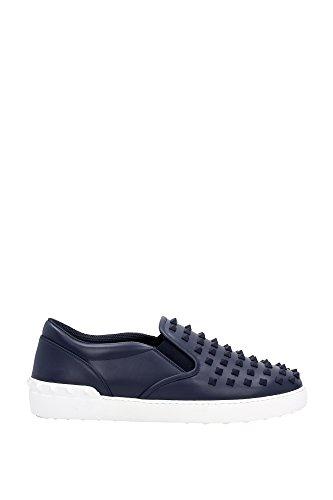 JY0S081TVDRM30 Valentino Garavani Pantoufle Homme Cuir Bleu
