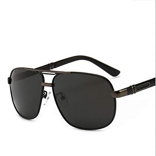 Taiyangcheng Polarisierte Sonnenbrille für Herren Outdoor Fahren Metall Spiegel Sonnenbrille Hd Rechteck Brille,Schwarz
