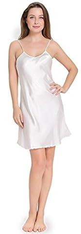 Aibrou Damen Nachthemd edle Nachtwäsche Negligee aus Satin Lingerie klassische Nachtkleid Morgenmantel einstellbarer Bademäntel