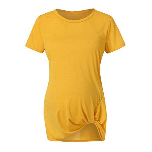 Ulanda-EU Sommer Umstandsmode Mutterschaft T-Shirt Mama Umstandsshirt,Damen Bluse Plissee Schwangerschaft T-Shirt Kurzarm Shirt Frauen Oberteile Umstandstop -