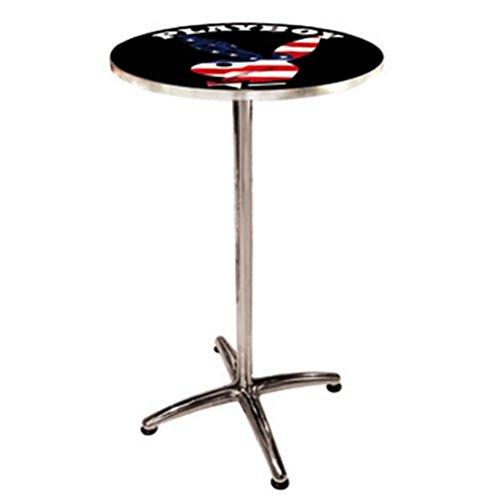 Playboy Grande Table ronde en métal de bar USA