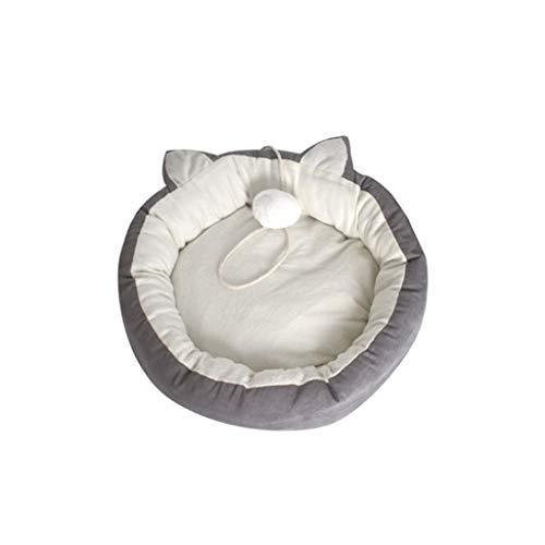 HUOQILIN Haustiernest Bequeme Schlafmatten Heimtierbedarf Matratzen Katzenstreu Zwinger Waschbar (Color : Gray, Size : 54cm)