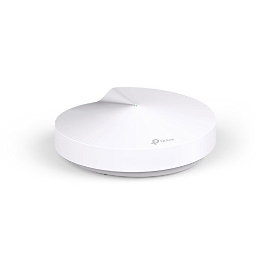 TP-LINK Deco M5 (1-pack) - Sistema WiFi de Red Mesh (AC1300 Banda Dual, Bluetooth 4.2, 2 Puertos Ethernet Gigabit, 1 Puerto USB, MU-MIMO, Funciona con Amazon Alexa e IFTTT)