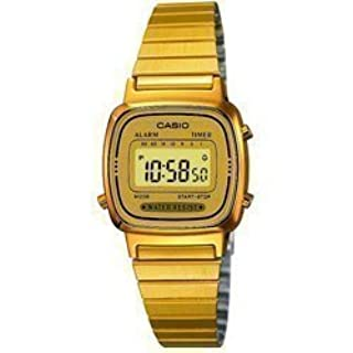 Casio Gold Plated Ladies Digital Bracelet Watch LA670WEGA-9EF (B005VOFYEC) | Amazon price tracker / tracking, Amazon price history charts, Amazon price watches, Amazon price drop alerts