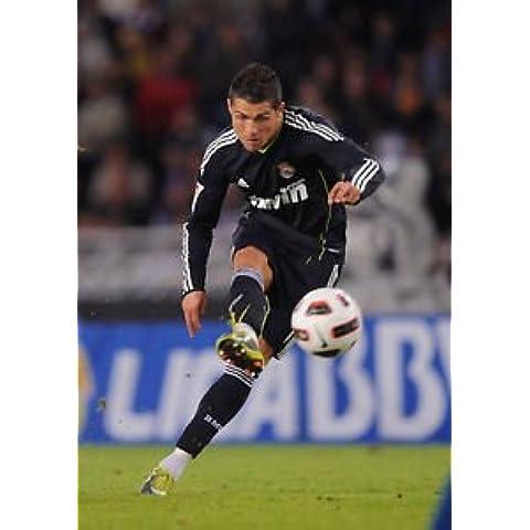 Cristiano Ronaldo - real Madrid - de balón de fútbol - Classic A3 Póster