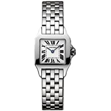Cartier Santos pequeño reloj de acero de las señoras táser W25064Z5
